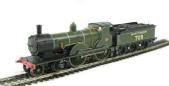 R2711 Class T9 Greyhound 4-4-0 729 in 1936 SR Green