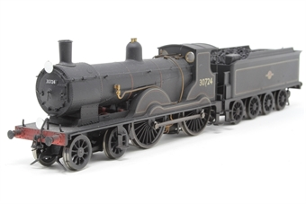 R2712-PO01 Class T9 Greyhound 4-4-0 30724 in BR lined Black with late crest - Pre-owned - weathered - detailed with crew and crest decal - fitted with wire loop coupling - Coal load added - replacement box £80
