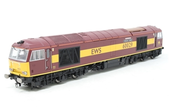 R2746-PO06 Class 60 60029 'Clitheroe Castle' in EWS livery - Pre-owned - detailed buffer beams, includes unfitted snowploughs