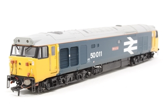 "R2748-PO01 Class 50 50011 ""Centurion"" in BR blue with large logo - Pre-owned - DCC fitted - imperfect box"