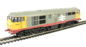 R2754 Class 31 31105 in BR Railfreight grey with red stripe