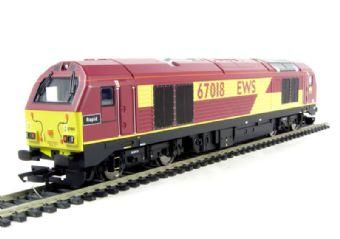 R2764 Class 67 67018 'Rapid' in EWS livery
