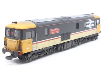 R2767-PO02 Class 73 73204 'Stewarts Lane' in BR Intercity livery - Pre-owned - DCC sound fitted - weathered - missing coupling hooks - imperfect box
