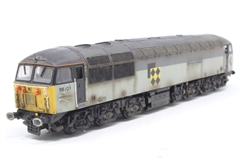 R2781XS-PO04 Class 56 56101 'Mutual Improvement' in BR trainload coal livery with DCC sound - Pre-owned - weathered, renamed & renumbered - lights not working at one end - roof fans removed