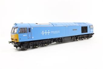 "R2800 Class 60 60074 ""Teenage Spirit"" in DB Schenker charity blue - Rail Express Limited Edition"