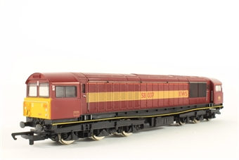 R283 Class 58 58034 'Bassetlaw' in Railfreight Red Stripe Livery