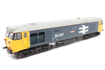 R2901XS-PO01 Class 50 50037 ''Illustrious'' in BR large logo blue with sound - Pre-owned - slow runner - damaged vents-