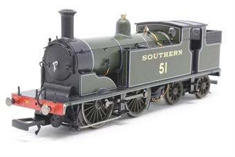 R2924-PO05 M7 Class 0-4-4T 51 in SR Maunsell Green - Pre-owned - sold as seen, non runner, missing coupling hooks