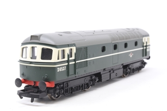 R2939-PO08 Class 33 D6537 in BR green (Railroad Range). - Pre-owned - DCC fitted - replacement box