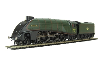 "R3012 Class A4 4-6-2 60027 ""Merlin"" in BR Green witth late crest with corridor tender."