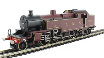 R3020 Class 4P Fowler 2-6-4T 2308 in LMS lined Crimson Lake