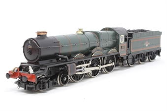 R303-PO05 King Class 4-6-0 'King Edward I' 6024 in BR Green - Pre-owned - renamed/renumbered and detailed with etched plates, crew and real coal  - replacement box £50