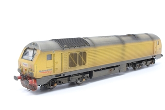 R3040-PO03 Class 67 67001 in Network Rail yellow - Pre-owned - Resprayed and weathered