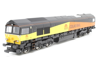 R3042-PO03 Class 66 66843 in Colas Rail Livery  - Pre-owned - DCC fitted - damaged NEM pocket- imperfect box