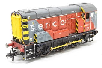 R3049-PO05 Class 08 Shunter 08417 in Serco Livery - Pre-owned - DCC fitted, minor scratches to paintwork, replacement buffer - replacement box