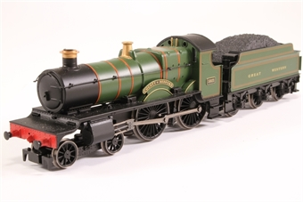 """R3061-HX02 County Class 4-4-0 3821 """"County of Bedford"""" in GWR Great Western Green (Railroad Range) - Pre-owned - DCC fitted - missing traction tyres"""