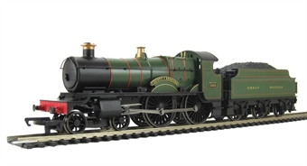 "R3061 County Class 4-4-0 3821 ""County of Bedford"" in GWR Great Western Green (Railroad Range)"