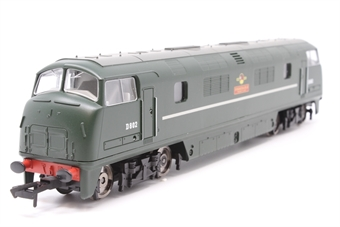 R3068-PO05 Class 42 'Warship' D802 in BR Green - Railroad Range. - Pre-owned - DCC fitted - imperfect box