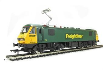 R3077 Class 90 90046 in original Freightliner Green/Yellow
