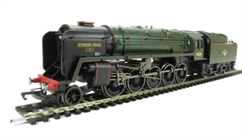 """R3097 Class 9F 2-10-0 92220 """"Evening Star"""" in BR Green. 40th anniversary of """"Triang"""" to """"Hornby Railways"""""""