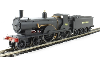R3108 Class T9 Greyhound 4-4-0 708 in SR Black with sunshine lettering