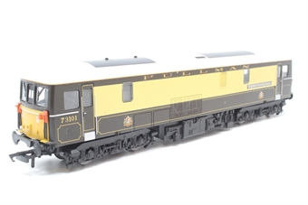 """R3137-PO03 Class 73 73101 """"Brighton Evening Argus"""" in Pullman Umber & Cream - Pre-owned - sticker marks on roof - imperfect box"""
