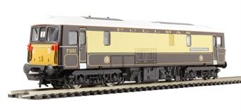 """R3137 Class 73 73101 """"Brighton Evening Argus"""" in Pullman Umber & Cream"""