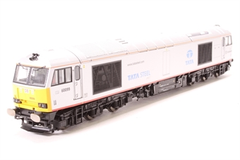 R3141-PO01 Class 60 60099 in DB Schenker/Tata Steel Grey - Pre-owned - DCC Sound-fitted - imperfect packaging - damaged coupling - noisy runner