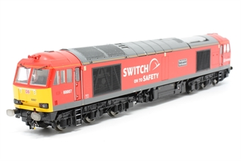 "R3150-PO02 Class 60 60007 ""The Spirit of Tom Kendall"" in DB Schenker ""Switch on to safety"" livery - Pre-owned - DCC Sound Fitted - damage to bogie frame - missing couplings"