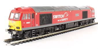 """R3150 Class 60 60007 """"The Spirit of Tom Kendall"""" in DB Schenker """"Switch on to safety"""" livery"""