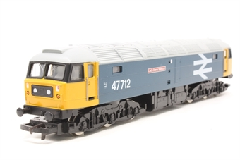 """R316-PO09 Class 47 47712 """"Lady Diana Spencer"""" in BR early large logo blue livery - Pre-owned - Poor noisy runner, imperfect box"""