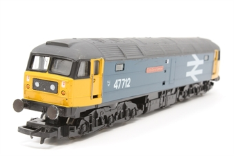 """R316-PO10 Class 47 47712 """"Lady Diana Spencer"""" in BR early large logo blue livery - Pre-owned - repainted roof- etched name plates- marks on bodywork- imperfect box"""