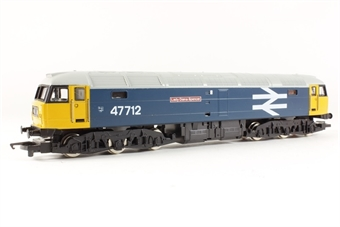 """R316 Class 47 47712 """"Lady Diana Spencer"""" in BR early large logo blue livery"""