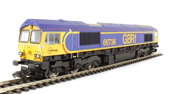 """R3182 Class 66 66736 """"Wolverhampton Wanderers"""" in GBRf livery"""
