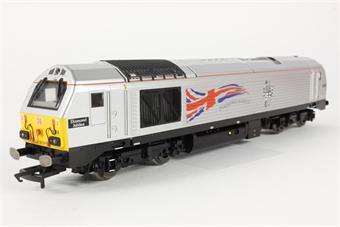 """R3216 Class 67 67026 """"Diamond Jubilee"""" in DB Schenker Silver - only available through Hornby Collectors Club"""