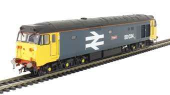 """R3263 Class 50 50024 """"Vanguard"""" in BR Large Logo blue"""