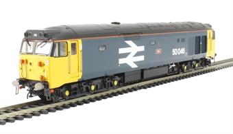 "R3264 Class 50 50046 ""Ajax"" in BR Large Logo blue"