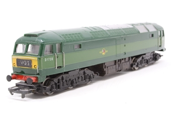 R328-PO05 Class 47 D1670 'Mammoth' in BR Green - Pre-owned - imperfect box - poor runner