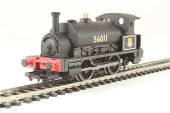 R3292 Class 0F Pug 0-4-0ST 56011 in BR black - Hornby 2014 Collectors Club special edition