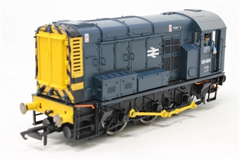 R3342-PO01 Class 08 shunter 08489 in BR blue - Pre-owned - DCC Sound-fitted, detailed with driver, damage to connecting rods