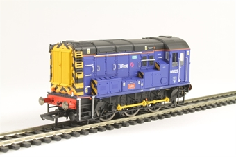 "R3343 Class 08 0-6-0 shunter 08822 ""John"" in First Great Western livery"