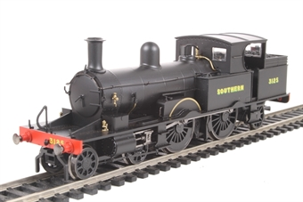 R3422 Class 415 Adams Radial 4-4-2T 3125 in Southern Railway wartime black
