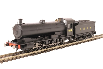 R3424 Class Q6 Raven 0-8-0 3418 in LNER Black with Gill Sans lettering