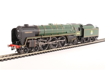 """R3444 Class 7P Britannia 4-6-2 70034 """"Thomas Hardy"""" in BR green with early emblem"""