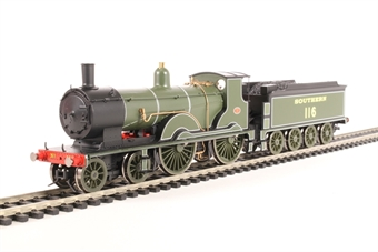 R3457 Class T9 4-4-0 116 in Southern Railway olive green