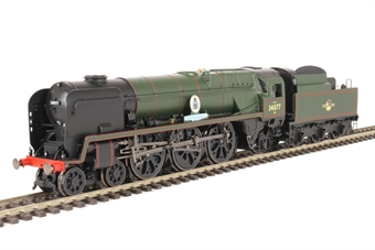 """R3468 Class 7P6F Rebuilt Battle of Britain 4-6-2 34077 """"603 Squadron"""" in BR Lined Green with late crest"""
