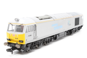 """R3479-PO08 Class 60 60066 in DB Schenker/Drax """"Powering Tomorrow"""" silver - Pre-owned - Like new"""