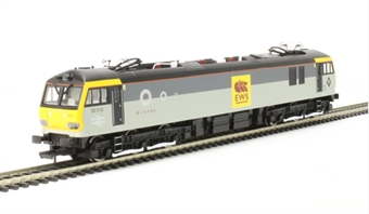 "R3480 Class 92 92016 ""Brahms"" in Railfreight grey with EWS 'Beastie' vinyls"