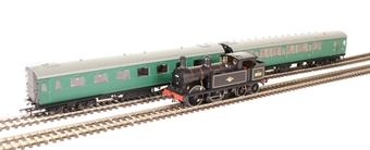 R3512 SECR H Class Wainwright 0-4-4T 31551 in BR black with late crest - Limited Edition train pack with Maunsell Push/Pull coaches