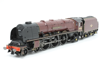 """R3555-PO06 Class 8P Princess Coronation 4-6-2 46256 """"Sir William Stanier F.R.S"""" in BR maroon - Pre-owned - Like new"""